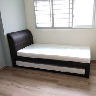Pull-out bed + mattress @ $318