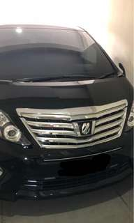 Alphard Audioless 2014