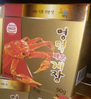 韓國即食辣蟹膏