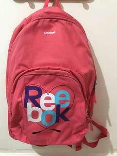 Reebok pink backpack