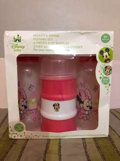 Disney Minnie Pink bottle & milk container