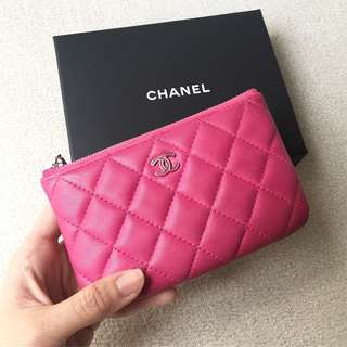 AUTHENTIC CHANEL Mini O Case / Clutch / Purse  / Pouch