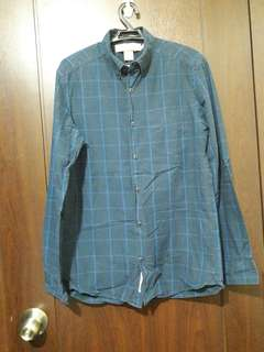Olive and Blue Checkered Longsleeves from H&M