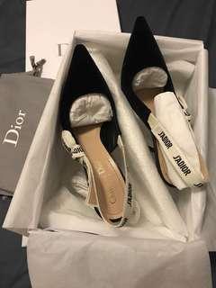 Dior J'adior velvet & ribbon heels