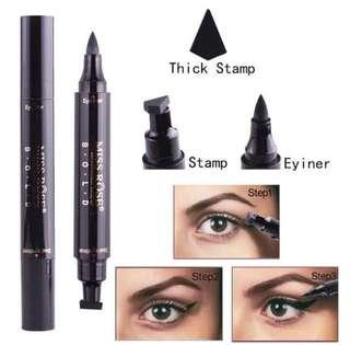 💄❤️ Miss Rose Waterproof Magic Eyeliner & Seal Winged Duo Eyeliner Stencil Stamp 2 in 1