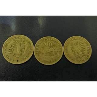 Uang Koin Kuno Rp 100 tahun 1978