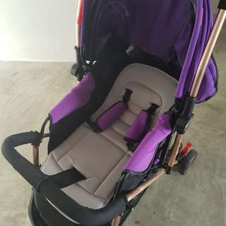 Baby Stroller Newborn onwards. Condition 9/10. Received as a  gift selling off to safe space and getting a double stroller.