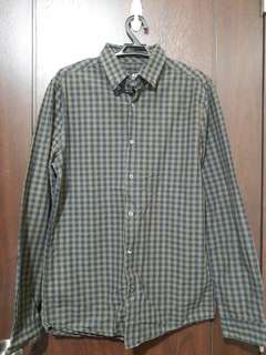 Olive and Blue Checkered Longsleeves