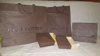 Louis Vuitton Paper Bag & Box