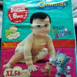 Onwards Diapers Size XL 56+6pcs