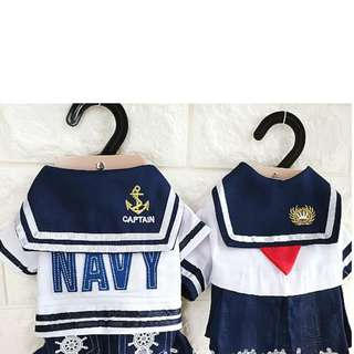BN Pets/ Cats/ Dogs Sailor/ Nautical/ Navy/ Captain Theme Outfit