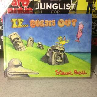 """IF... BURSTS OUT"" by Steve Bell #books #graphic #novel #graphicnovel"