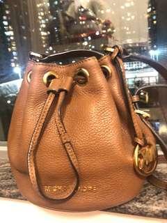 Brown Michael Kors small bucket bag