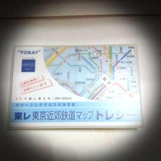 舊版日本鉄路圖清潔布