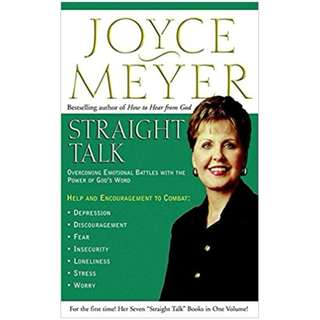 Giveaway/Book exchange: Straight Talk: Overcoming Emotional Battles with the Power of God's Word (Joyce Meyer)