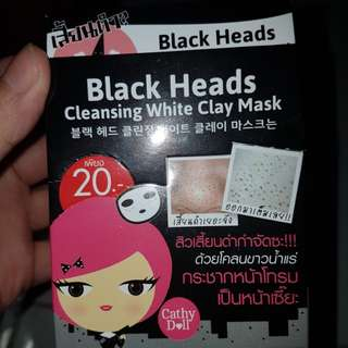 Cathy doll cleansing white clay mask ( penghilang komedo)