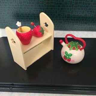微玩具-家居篇-士多啤梨組合