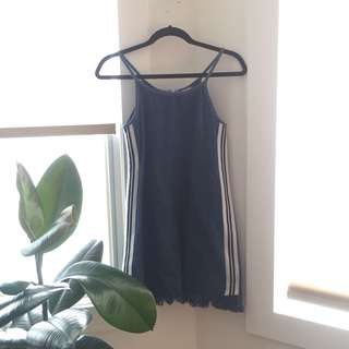 Vintage denim sporty mini dress