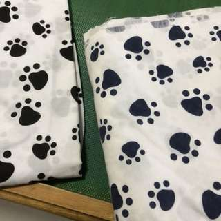 Light cotton fabric per meter $5 in black and dark blue