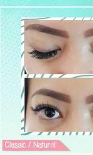 Eyelash extensions classic/natural
