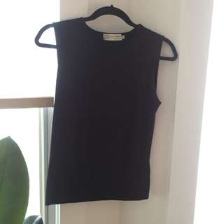 Black 90s knitted tank