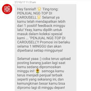 Thanks Carousell 🌸🎉