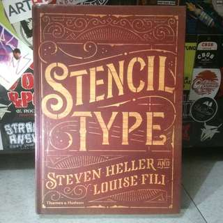 STENCIL TYPE by Steven Heller and Louise Fili penerbit Thames & Hudson #books #stencil #graphicdesign #type