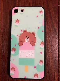 i phone 8 case/蘋果電話殼/Line Friends/熊大圖案
