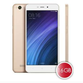 Xiaomi Redmi 4A, 2+16G Gold Global Version. Full Set. Parallel Import