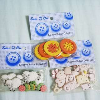 Creative Button Collection (buy 2 free 1)