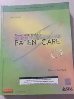 Patient care medical book