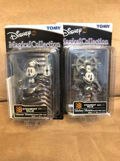 Mickey Mouse ,Minnie Mouse steamboat  1set