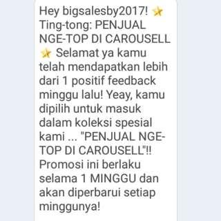 Thankyouu Carousell !! Dapat lagi utk kesekian kali 😊
