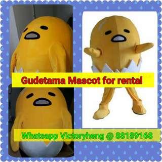 Gudetama Mascot Costume for rental