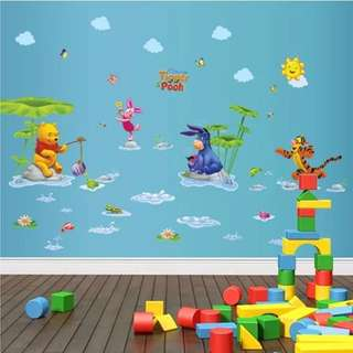 Winnie The Pooh Wall decal/ wall stickers/ home deco