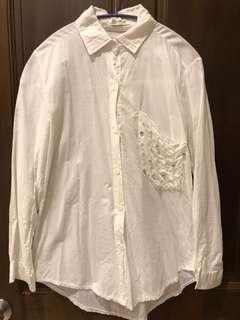 🚚 白色珍珠襯衫