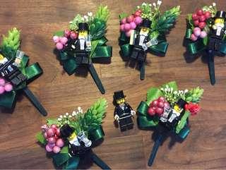 手造Lego結婚婚禮襟花