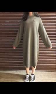 兔毛洋裝 韓國 doogose