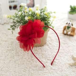BN red flower hairband