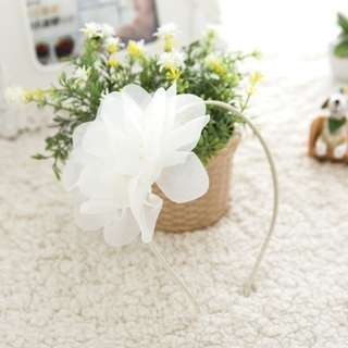 BN white flower hairband