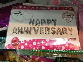SALE! Happy Anniversary Set Foil Balloons