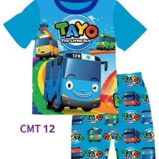 Tayo Bus t-shirt set