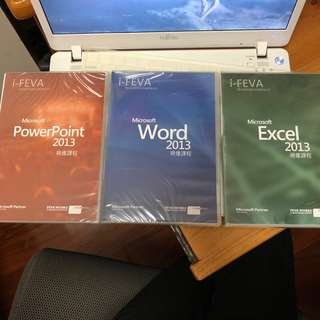 I-Feva Microsoft 2013 Excel, PowerPoint, Word CD 教材教學 x3