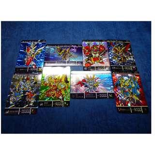 SD 高達 - 鎧鬥神戰記 2, 閃咭,卡 - Full Set 8閃36白, 合共 44 張 首版,不是復刻版 , 祇限郵寄交收