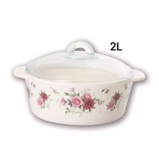 Fireproof Casserole Periuk Kaca Made In France