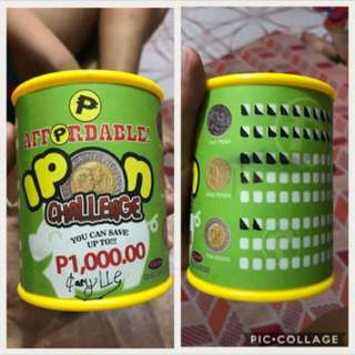 Ipon Challenge coin bank for kids