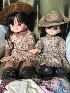 Made in UK pair of dolls 1970s