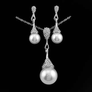 Long Drop Pearl Jewelry Set