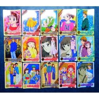 懷舊日版白卡 - 果醬少年 3 白咭,卡 - Full Set 36 張 , 沒有閃卡 , 祇限郵寄交收