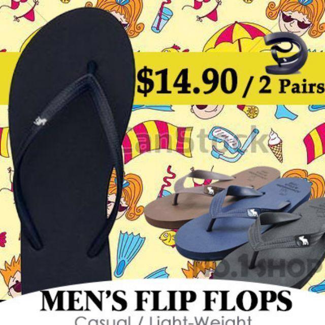 6e02c581536f 2 PAIRS SALE  Mens Flip flops   Mens sandal   Foothold   Slippers ...
